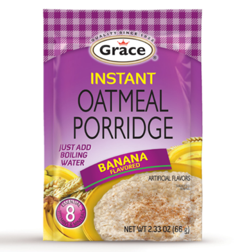 Picture of Grace Instant Oatmeal Porridge (Banana Flavoured - 62g)