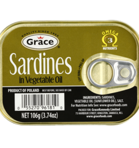 Picture of Grace Sardines in Vegetable Oil (106g)