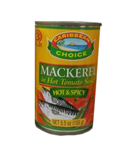 Picture of Caribbean Choice Mackerel in Hot Tomato Sauce (5 oz)