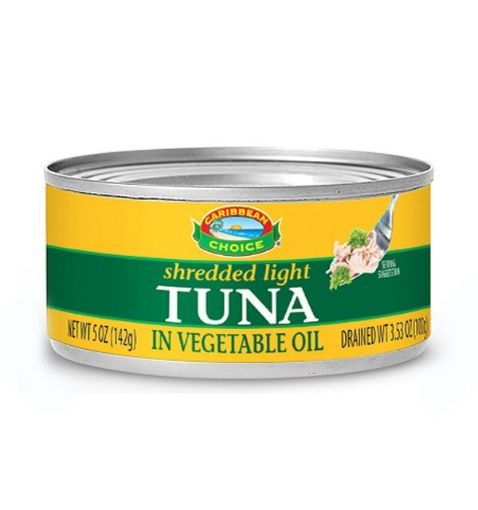 Picture of Caribbean Choice Shredded Tuna in Vegetable Oil (142g)