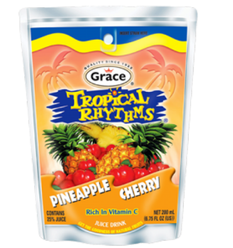 Picture of Grace Tropical Rhythms Pineapple Cherry Pouch (209 ml)