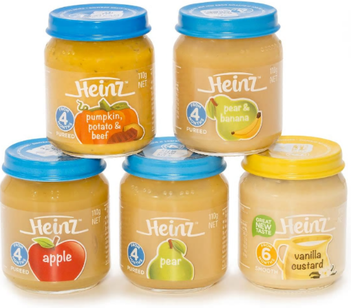 Picture of Heinz Baby/Toddler 5 Pack Assorted Food (110g each)