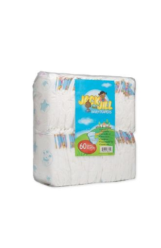 Picture of Lasco Jack & Jill Baby Diapers (Small- 60 pack)