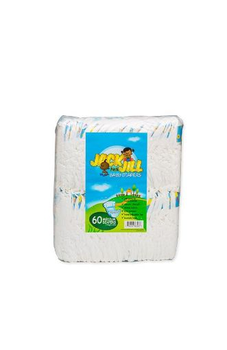Picture of Lasco Jack & Jill Baby Diapers (Medium- 60 pack)