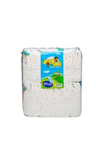 Picture of Lasco Jack & Jill Baby Diapers (X-Large - 60 pack)