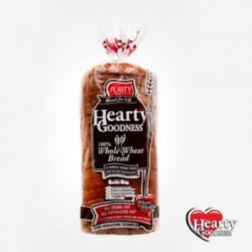 Picture of Purity Sliced Hardough 100% Whole Wheat Hearty Goodness Bread (500g)
