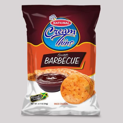 Picture of National Cream Thins Crispy Crackers (Sweet Barbecue - 90g/3.2oz)