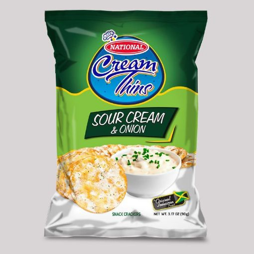 Picture of National Cream Thins Crispy Crackers (Sour Cream Onion - 90g/3.2oz)