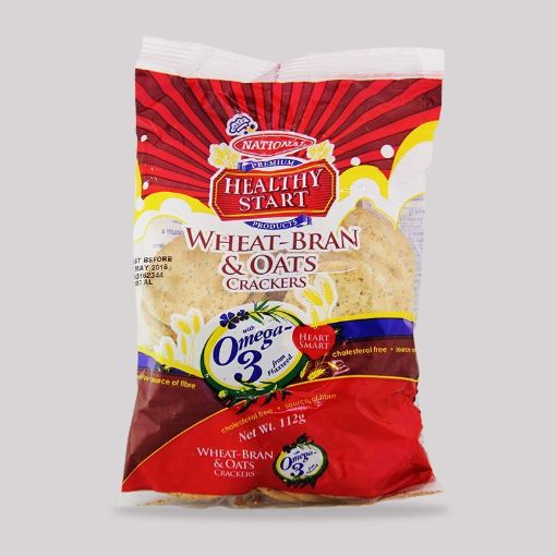 Picture of National Healthy Start Crackers (Wheat Bran & Oats 112g)