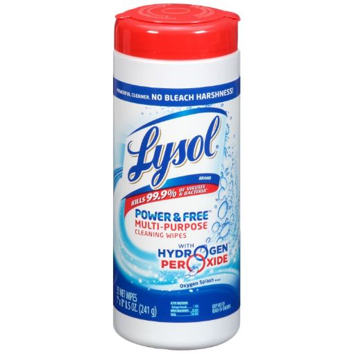 Picture of Lysol Power & Free Multipurpose Cleaning Wipe  (241g)