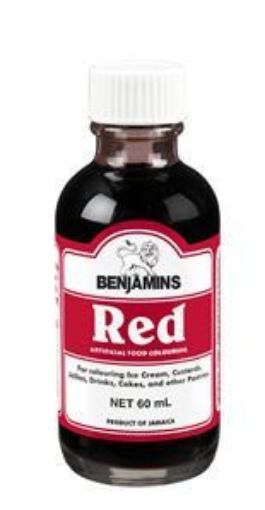 Picture of Benjamins Red Food Colouring (60ml)