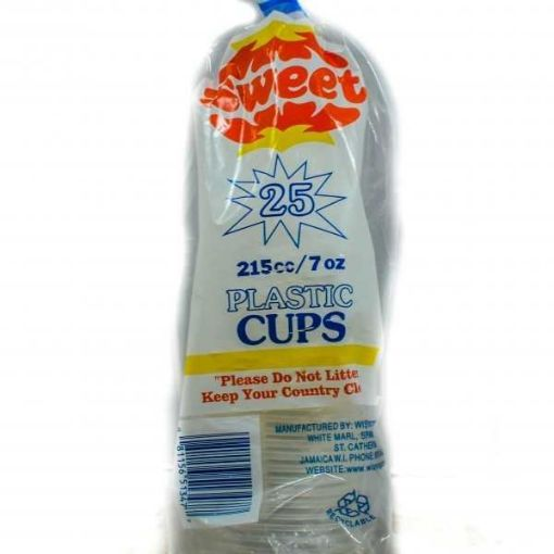Picture of Wisynco Sweet Plastic Cups (25 cups - 225 cc/7 oz)