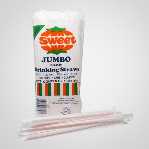 Picture of Wisynco Sweet Jumbo Plastic Drinking Straws (150)