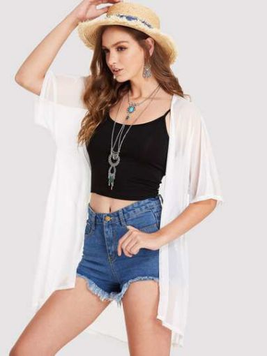 Picture of White Sheer Beach Cover-Up