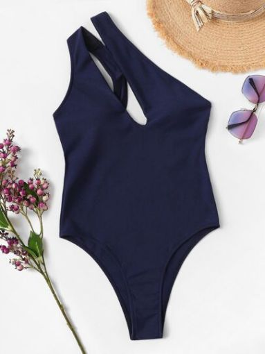 Picture of Blue One-Sided Monokini