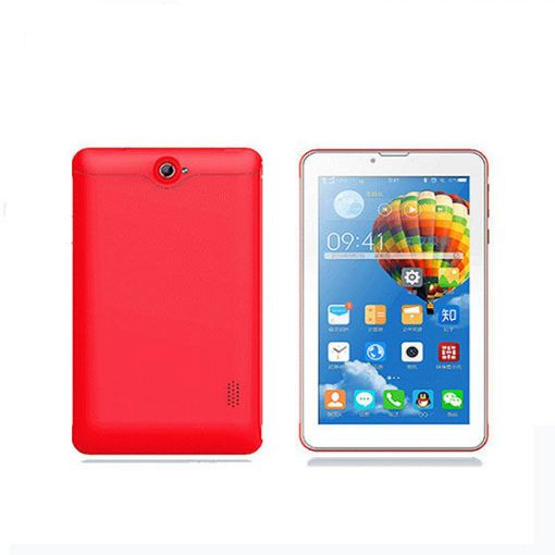 Red 7 inch Android tablet