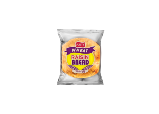 PURITY Whole Wheat Raisin Bread 113g - Pack of 3