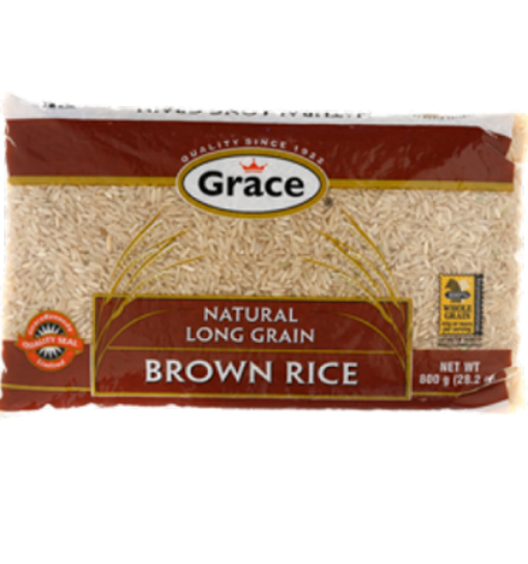 Picture of Grace Natural Long Grain Brown Rice (880g)