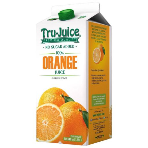 Picture of Tru Juice Orange Juice No Sugar Added - 1.75L/59floz