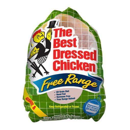 Picture of Best Dressed Chicken Free Range Whole Chicken Tray Pack (1 Unit - without giblet - Estimated 5-7 lbs)