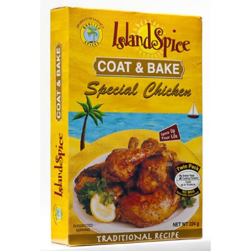 Picture of Island Spice Coat & Bake Traditional Chicken Seasoning - 224g/8oz