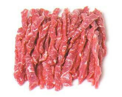Picture of Beef Pepper Steak Strips Small -250g/0.55lbs (Estimated)