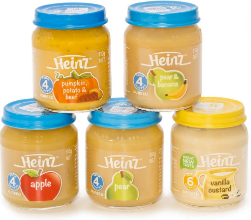 Picture of Heinz Baby/Toddler 5 Pack Assorted Food (110g/3.88oz Each)