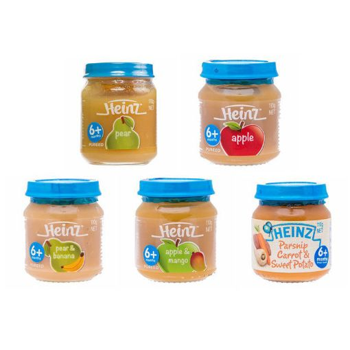 Picture of Heinz 6+ Baby/Toddler 5 Pack Assorted Food (110g each)