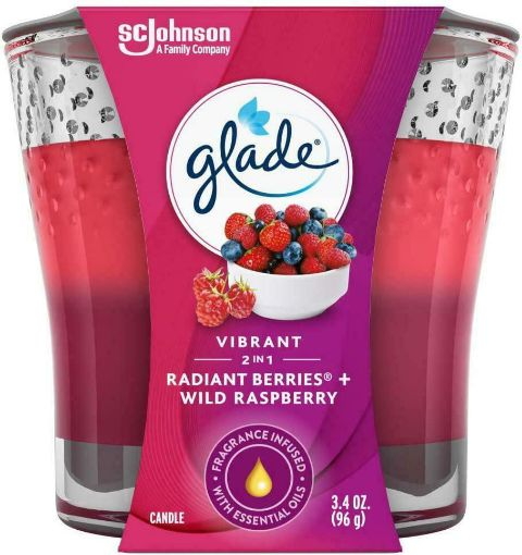 Picture of Glade Candle 2in1 Radiant Berries + Wildberries (3.4 oz/96.38 g)