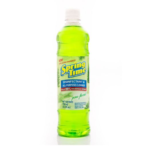 Picture of Spring Time Disinfectant & All Purpose Cleaner (Kills 99%) - Pine Forrest - 750ml/25.3 fl oz