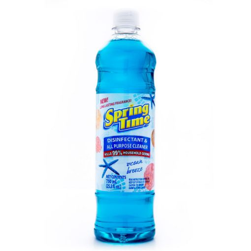 Picture of Spring Time Disinfectant & All Purpose Cleaner (Kills 99%) - Ocean Breeze - 750ml/25.3 fl oz
