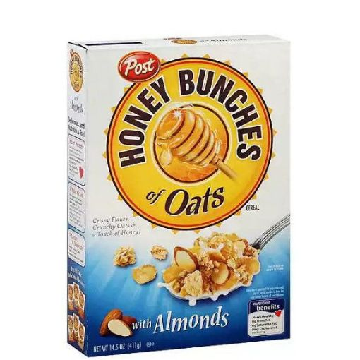 Picture of Post Honey Bunches of Oats Almond Flakes 14.5 oz/411 g