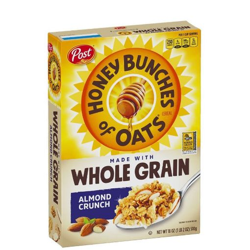 Picture of Post Honey Bunches of Oats Whole Grain Almond Crunch Flakes 18 oz/510 g