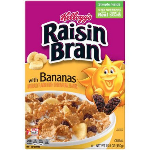 Picture of Kellogg's Raisin Bran with Bananas 450g/15.9 oz