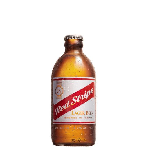 Picture of Red Stripe Lager Beer (Bottle - 341 mL)