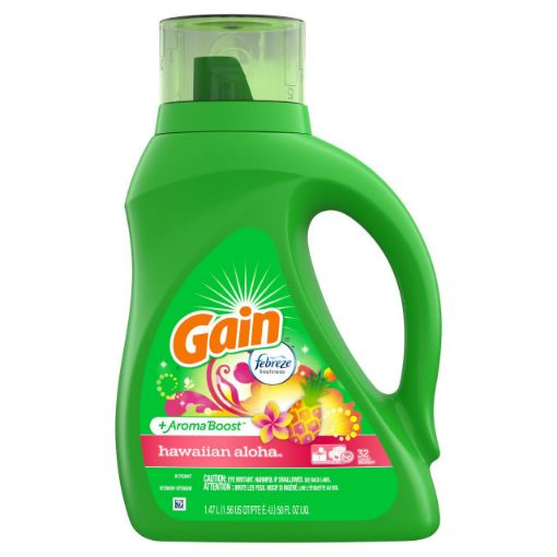 Picture of Gain Liquid Laundry Detergent Hawiian Aloha 1.47L/50 fl oz