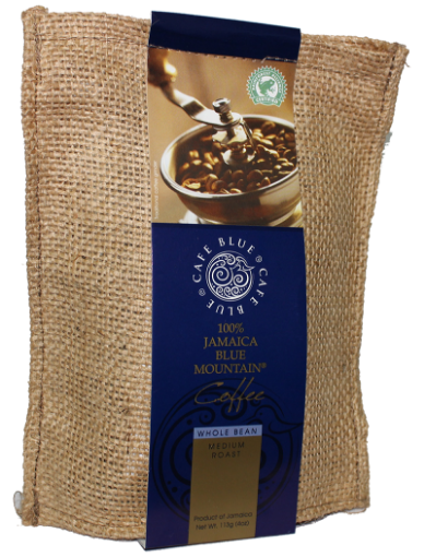 Picture of Jamaican Blue Mountain Coffee Whole Bean Medium Roast Cafe Blue (113 g/ 4oz)