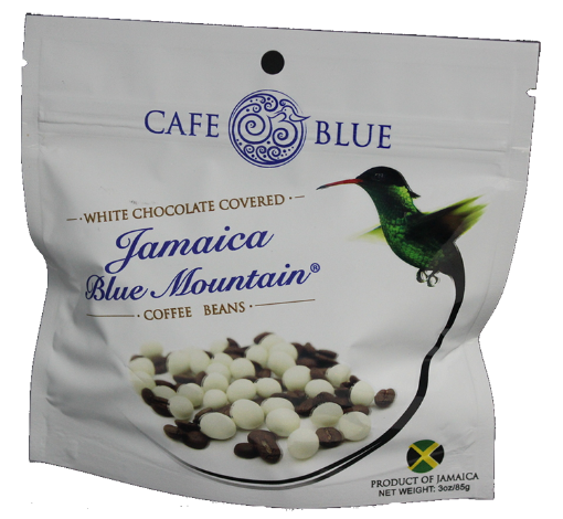 Picture of Jamaican Blue Mountain Coffee White Chocolate Covered Beans  Cafe Blue (85 g/ 3 oz)