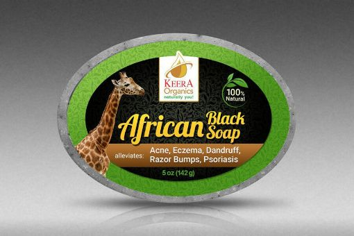 Picture of Kerra Organics Black Soap (142 g/5 oz)