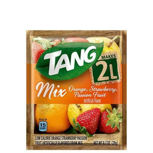 Picture of Tang Drink Mix Orange, Strawberry, Passion Fruit - 20g)