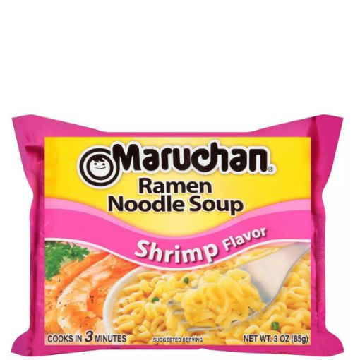 Picture of Maruchan Ramen Noodle Shrimp Flavor 3 oz/85g